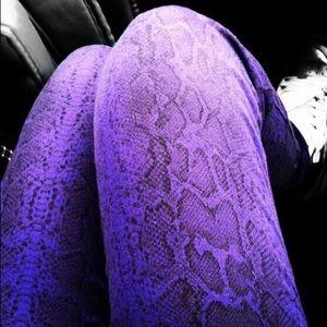 Purple Snake Print Jeggings